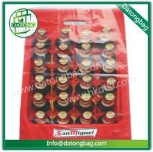 Advertising use wine cooler HDPE/PE plastic packaging bag