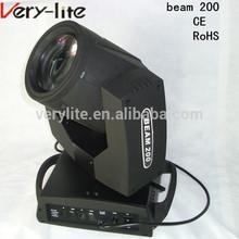 cheap mini stage laser light sharpy 200w beam moving head light