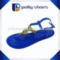 de promoción baratos pvc trenza jalea sandalias para dama