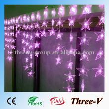 4*0.7M 90LEDs LED curtain light romantic Wedding/party/holiday/Xmas/home decoration light 90pcs of stars/heartshape 220V/110V