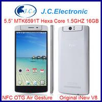 Original iNew Youth V8 / iNEW V8 Android 4.4 Smartphone 5.5 Inch 1GB/2GB RAM HD Screen MTK6591T Hexa Core 1.5GHz NFC OTG