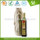 custom logo print wholesale printed jute bag/jute bag wine bottle bag