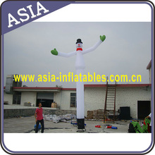 Cheap inflatable Christmas air dancer/inflatable advertising snow man air dancer with two waving hands