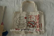 Eco-friendly cartoon printing Canvas shopping bag stock bag