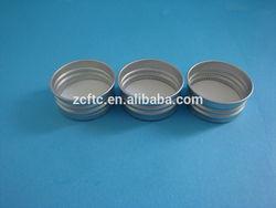 18mm,20mm,28mm,32mm aluminum screw caps/lids with liner