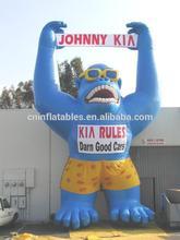 giant vivid inflatable gorilla balloon ,inflatable gorilla character