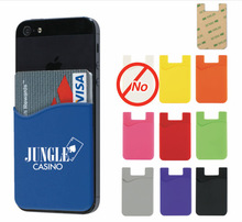 Change colorl Silicone wallet with cell phone pocket 3M Adhesive