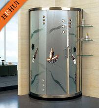 Cheap glass bathroom shower with shelf KY-1010-1201