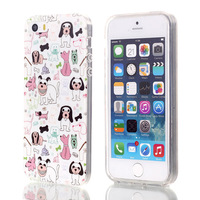 Cute puppy pattern mobile phone protective TPU cover case for iPhone 5G