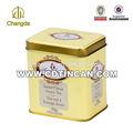 Retângulo de alimentos grau hermético chá caixa de embalagem metal cd-152