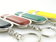 Wholesale Freesample Hotselling key chain usb flash drive leather