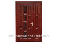 Top Chinese professional Fancy design single solid wooden door