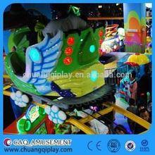 China Air bike amusement rides, Various design funfair playground electric mini train for kids