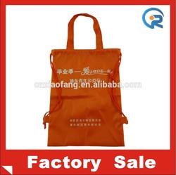 direct factory manufacturer & cheap polyester drawstring bag /new design printing tote bag