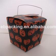 Plastic printed PET/PP/PVC box with handle