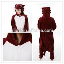 2014 wholesale Christmas cosplay custume/ Red timber wolf cartoon pajamas