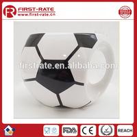 round football shape Ceramic mug