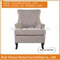 Accent sofá de, móveis para casa, tecido, contemporânea, roupa de madeira e borracha, tb-7227