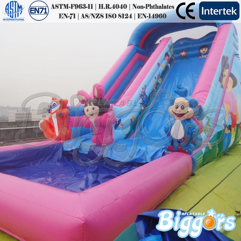 Gonflable petit toboggan de la piscine coulissant id du for Achat toboggan gonflable piscine