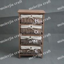 wicker drawer furniture 4 drawer storage unit cabinet