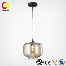Contemporary glass shade pendant light