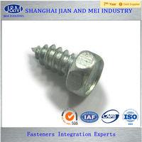 small hexagon head aluminum wood screw