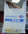 Recyclable T-shirt shopping Plastic Bag, hdpe tote plastic bags