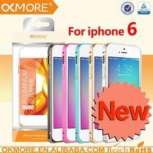 Mobile phones accessories bicolor round edge metal+pc bumper case for iphone 6