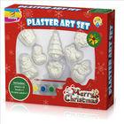 Christmas plaster magnet paint set for kids to DIY