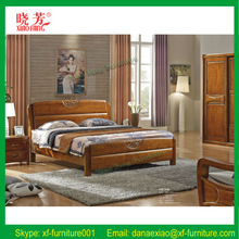 newest hot selling antique style carved solid wood bed frame (XFW-676)