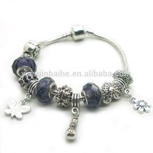 Valentine's gift bracelet.Love charms braclet.Snake chain bracelet. BC382