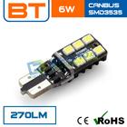 New Design 12V 6W LED Light w5w led smd t10 canbus