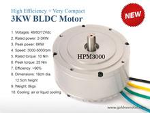 DC brushless electric motor 3kw 48V/60V/72V air cooling / liquid cooling