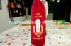 Top grade christmas velvet wine bottle bags with drawstring