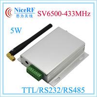 5W SV6500 rs485 wireless transceiver 433MHz