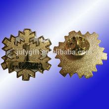 custom photo etch lapel pins, golden lapel pins