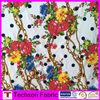elastic screen print fabric, african print fabric,flower print fabric