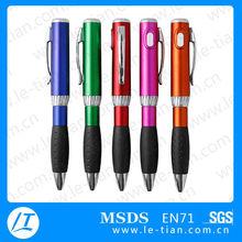 LT-BP021 Plastic function pen, led torch light pen,Plastic ballpoint pen