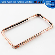 Luxury Crystal Rhinestone Diamond Bling Metal Frame Bumper Case Cover For iPhone 6