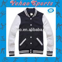 wholesale blank fleece varsity jacket