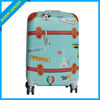 light blue personalized travel luggage sets for kids