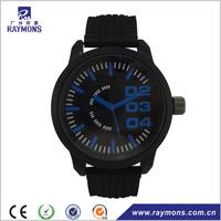 Cheap Gift Black Sport Silicone Quartz Student Watch