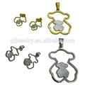 de acero inoxidable oso joyas de la joyería de china de fábrica