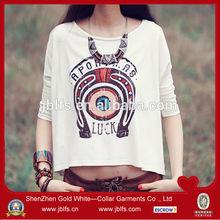 OEM women's modal short style long sleeve tshirt