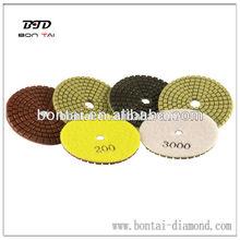 diamond granite polishing pads with velcro