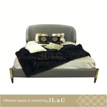 JB72-01 popular style antique bedroom suites leather bed from JL&C furniture(China supplier)