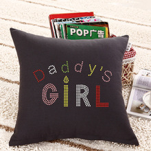 Daddy's girl rhinestone 100 cotton pillow cases for baby's room