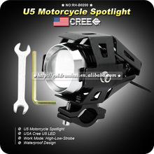 Goldrunhui RH-B0200 15W 1500LM U5 LED Handle Bar Driving Fog Spot HeadLight For Harley Dyna