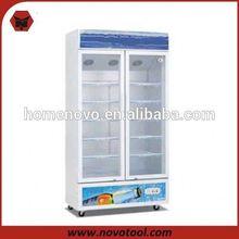 Hot Sale two glass door display cooler