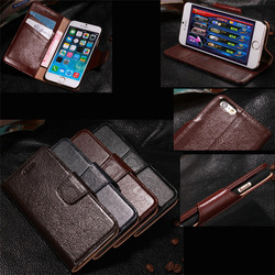 for iPhone 6 genuine leather case with card holder